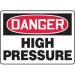 "Accuform MCHG034XP, Accu-Shield OSHA Sign ""Danger High Pressure"""