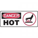"Accuform MCHG035VA, Aluminum OSHA Sign with Legend ""Danger Hot"""
