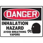 """Accuform MCHG037XF, OSHA Sign """"Inhalation Hazard Avoid Breathing…"""""""