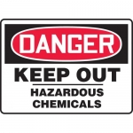 "Accuform MCHG038XF, OSHA Sign ""Danger Keep Out Hazardous Chemicals"""