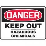 "Accuform MCHG038XL, OSHA Sign ""Danger Keep Out Hazardous Chemicals"""
