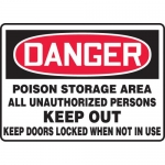 "Accuform MCHG041VA, OSHA Sign ""Danger Poison Storage Area All…"""