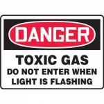"Accuform MCHG042VA, OSHA Sign ""Danger Toxic Gas Do Not Enter When…"""
