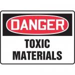 """Accuform MCHG043VA, Aluminum OSHA Sign """"Danger Toxic Materials"""""""