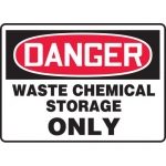 """Accuform MCHG044XL, OSHA Sign """"Danger Waste Chemical Storage Only"""""""