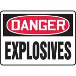 "Accuform MCHG048VA, Aluminum OSHA Sign with Legend ""Danger Explosives"""