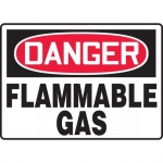 "Accuform MCHG049VA, Aluminum OSHA Sign ""Danger Flammable Gas"""