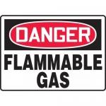 "Accuform MCHG049XV, Dura-Vinyl OSHA Sign ""Danger Flammable Gas"""