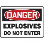 "Accuform MCHG051XL, OSHA Sign ""Danger Explosives Do Not Enter"""