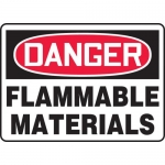 "Accuform MCHG052XV, Adhesive Dura-Vinyl OSHA Sign ""Flammable Material"""
