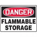 "Accuform MCHG055XV, Adhesive Dura-Vinyl OSHA Sign ""Flammable Storage"""