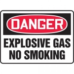 "Accuform MCHG058VA, Aluminum OSHA Sign ""Explosive Gas No Smoking"""