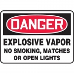 "Accuform MCHG060XV, OSHA Sign ""Explosive Vapor No Smoking Matches…"""
