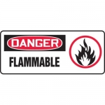"Accuform MCHG061XV, Adhesive Dura-Vinyl OSHA Sign ""Danger Flammable"""