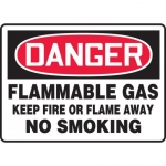 "Accuform MCHG062VA, OSHA Sign ""Flammable Gas Keep Fire or Flame…"""