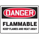 """Accuform MCHG065XV, OSHA Sign """"Flammable Keep Flames and Heat Away"""""""