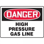 "Accuform MCHG069VA, Aluminum OSHA Sign ""High Pressure Gas Line"""