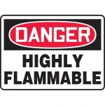 "Accuform MCHG070VA, Aluminum OSHA Sign ""Danger Highly Flammable"""