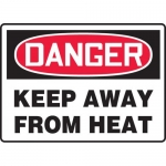 "Accuform MCHG071VA, Aluminum OSHA Sign ""Keep Away from Heat"""