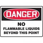 "Accuform MCHG072VA, OSHA Sign ""No Flammable Liquids Beyond This Point"""