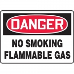 "Accuform MCHG073VA, Aluminum OSHA Sign ""No Smoking Flammable Gas"""