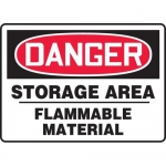 """Accuform MCHG074XT, OSHA Sign """"Storage Area Flammable Material"""""""