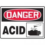 "Accuform MCHG075XV, Adhesive Dura-Vinyl OSHA Sign ""Danger Acid"""