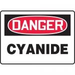 "Accuform MCHG076XV, Adhesive Dura-Vinyl OSHA Sign ""Danger Cyanide"""