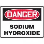 "Accuform MCHG080XV, Dura-Vinyl OSHA Sign ""Danger Sodium Hydroxide"""