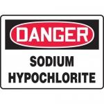 """Accuform MCHG081XV, Dura-Vinyl OSHA Sign """"Sodium Hypochlorite"""""""