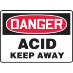 "Accuform MCHG085VA, Aluminum OSHA Sign ""Danger Acid Keep Away"""