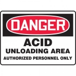"Accuform MCHG086XV, OSHA Sign ""Acid Unloading Area Authorized…"""