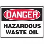 "Accuform MCHG091XF, Dura-Fiberglass OSHA Sign ""Hazardous Waste Oil"""