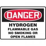 "Accuform MCHG093XV, OSHA Sign ""Hydrogen Flammable Gas No Smoking…"""
