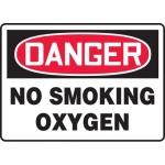 "Accuform MCHG095VA, Aluminum OSHA Sign with Legend ""No Smoking Oxygen"""