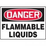 """Accuform MCHG102XV, Dura-Vinyl OSHA Sign """"Danger Flammable Liquids"""""""