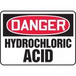 "Accuform MCHG104XV, Dura-Vinyl OSHA Sign ""Danger Hydrochloric Acid"""