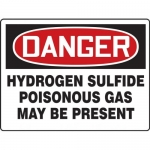 "Accuform MCHG128VA, OSHA Sign ""Hydrogen Sulfide Poisonous Gas…"""