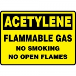 "Accuform MCHG500VA, Sign ""Acetylene Flammable Gas No Smoking No…"""