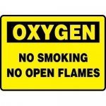 "Accuform MCHG501VA, Aluminum Sign ""Oxygen No Smoking No Open Flames"""