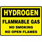 """Accuform MCHG505XV, Sign """"Hydrogen Flammable Gas No Smoking…"""""""