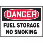 "Accuform MCHL003VA, Aluminum OSHA Sign ""Fuel Storage No Smoking"""