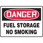 "Accuform MCHL003XF, OSHA Sign ""Fuel Storage No Smoking"""