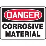 "Accuform MCHL005XV, Dura-Vinyl OSHA Sign ""Danger Corrosive Material"""