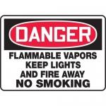 "Accuform MCHL006VA, OSHA Sign ""Flammable Vapors Keep Lights…"""