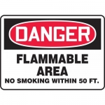 "Accuform MCHL007XL, OSHA Sign ""Flammable Area No Smoking Within…"""