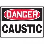 "Accuform MCHL010XP, Accu-Shield OSHA Sign with Legend ""Danger Caustic"""