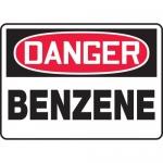"Accuform MCHL012XV, Adhesive Dura-Vinyl OSHA Sign ""Danger Benzene"""