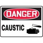 "Accuform MCHL014XV, Dura-Vinyl OSHA Sign ""Danger Caustic"" & Symbol"