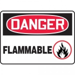 "Accuform MCHL015VA, Aluminum OSHA Sign with Legend ""Danger Flammable"""